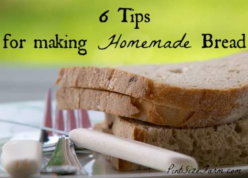 I wish I had these bread making tips when I started making homemade bread! Found at www.PintSizeFarm.com