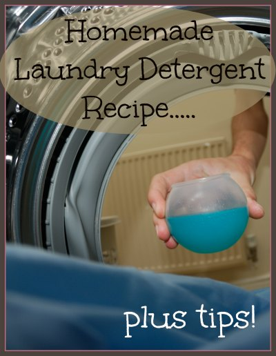 The BEST homemade laundry detergent recipe plus tips, found at www.PintSizeFarm.com