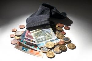 frugal money in sock