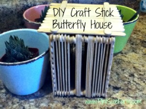 This craft stick butterfly house is easy to make and only costs $1!