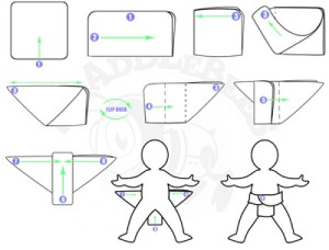 how to fold a flat cloth diaper