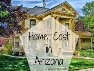 What is the average cost to build a home in Arizona?