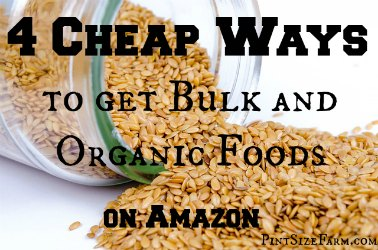 Cheap ways to find great deals on Amazon, even organic and bulk foods! Found at www.PintSizeFarm.com