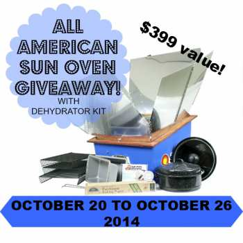 Benefits of an All American Sun Oven with Dehydrator Kit with a giveaway at www.PintSizeFarm.com