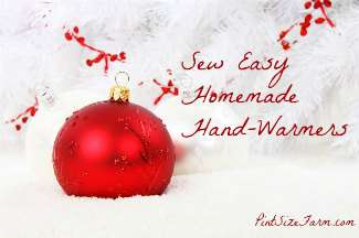 These homemade hand-warmers are super easy and cheap to make. Found at www.PintSizeFarm.com