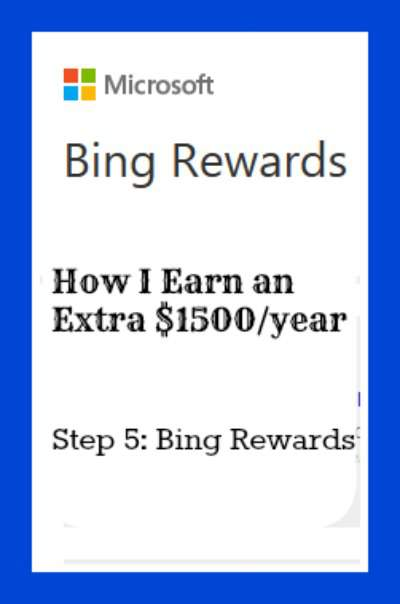You can earn $1500 extra a year at home! Step 5 - Bing Rewards Program. Found at PintSizeFarm.com