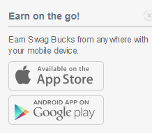 Earn with swagbucks on mobile apps. Information found at PintSizeFarm.com