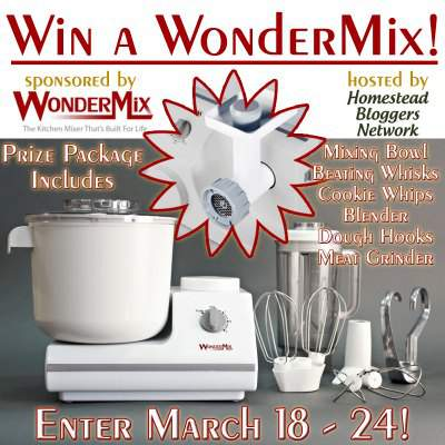 Win the WonderMix plus Meat Grinder Attachment found at www.PintSizeFarm.com