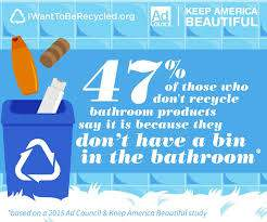 Use a Bathroom Recycling bin! One of the bathroom recycling tips at PintSizeFarm.com